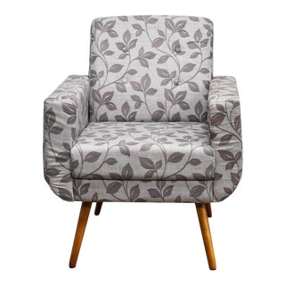 Modern Athena Floral Brown Armchair For Sale