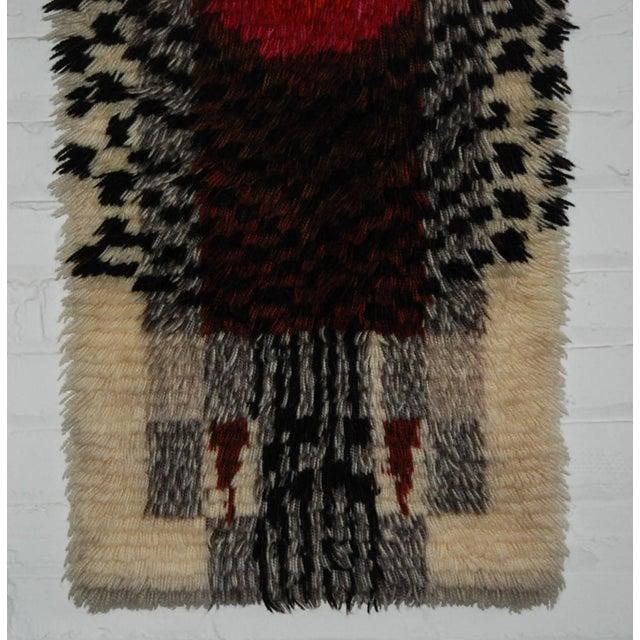 1960's Denna Rya Vintage Abstract Wool Tapestry/Rug -- 1′8″ × 2′9″ - Image 4 of 8
