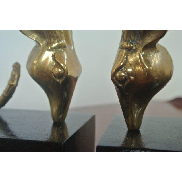 Mid-Century Modern Ibex Bookends in the Manner of Alain Chervet For Sale - Image 3 of 7