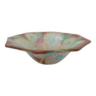 Higgins Glass Bowl With Floral Motif