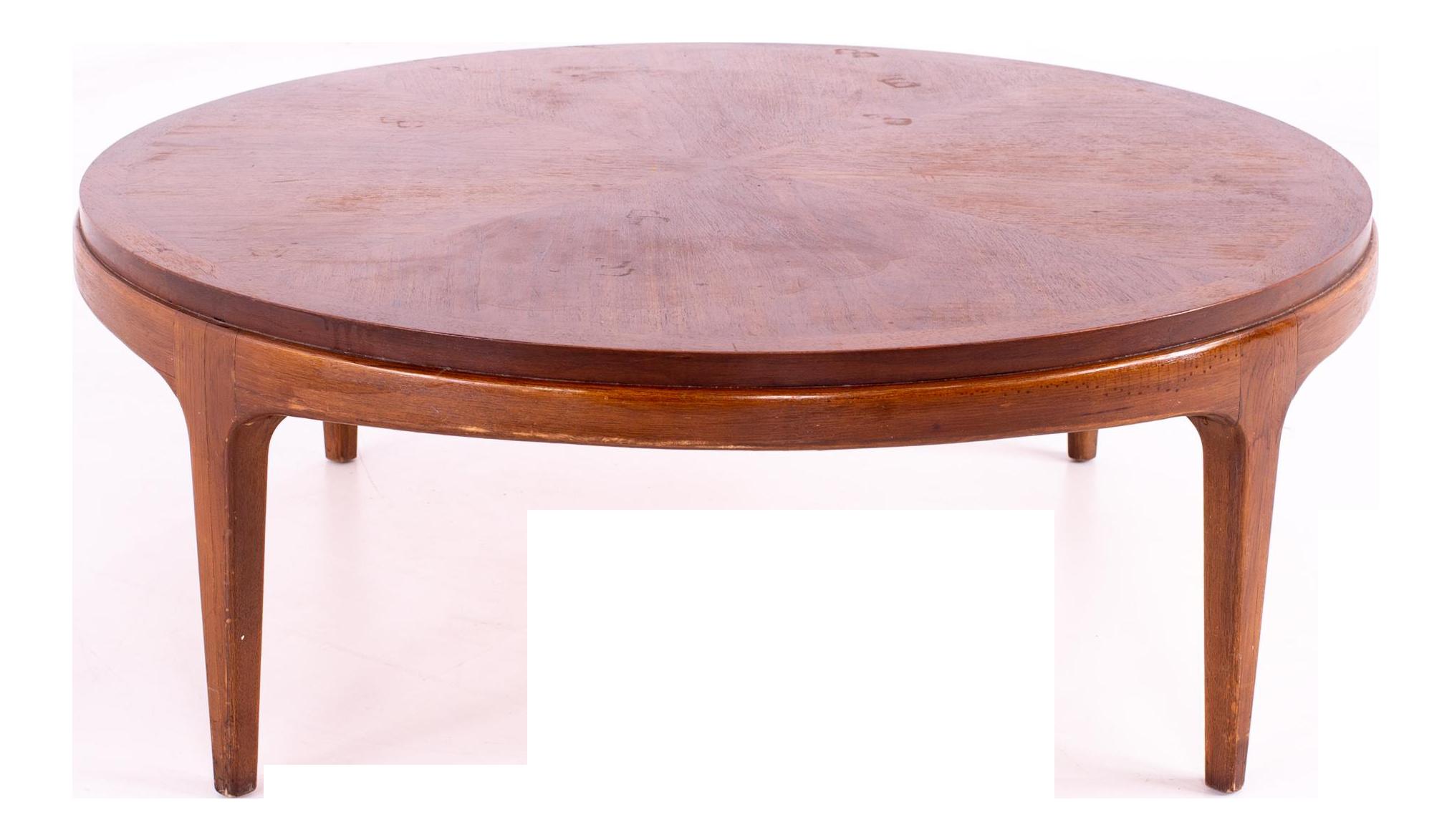 - Lane Rhythm Mid Century Round Walnut Coffee Table Chairish