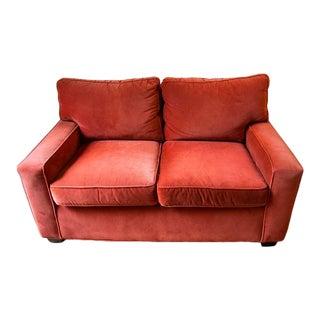 Mitchell Gold + Bob Williams Burnt Orange Loveseat Couch