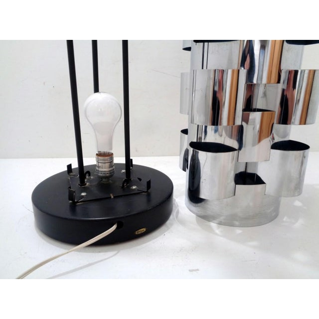 Signed Curtis Jere Skyscraper Interplay Chromed Steel Table Lamp For Sale In Nashville - Image 6 of 12