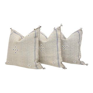 Moroccan Sabra Cactus Silk Pillow Cover - Set of Three For Sale