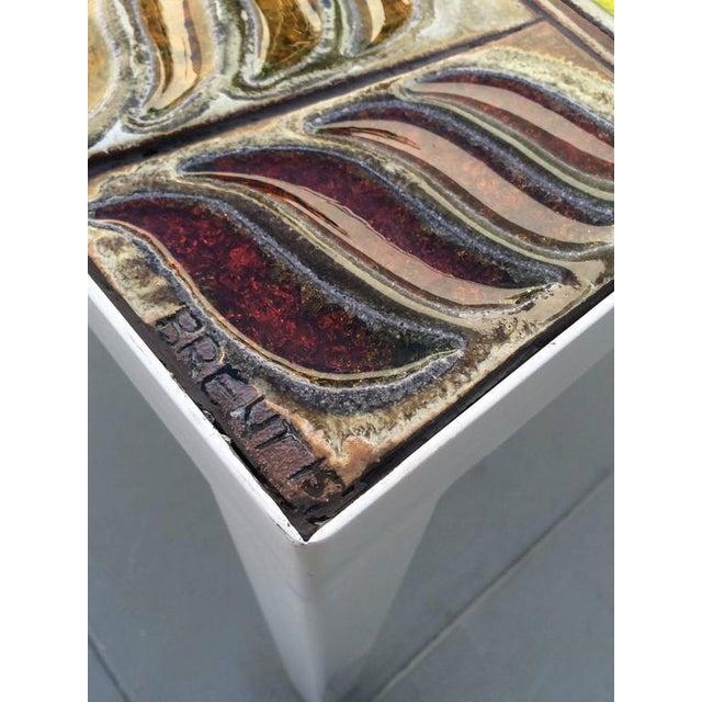 Studio Ceramic Tile Top Table by Brent Bennett For Sale - Image 5 of 10