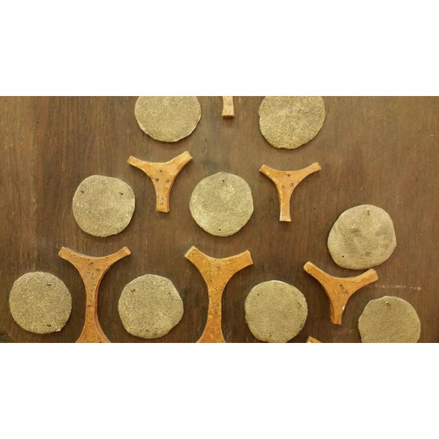 Cement & Ceramic Collage Wooden Wall Hanging - Image 5 of 6