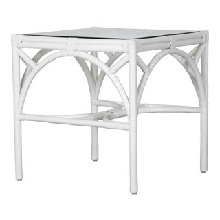 Boho Chic David Francis Indoor Chippendale End Table For Sale