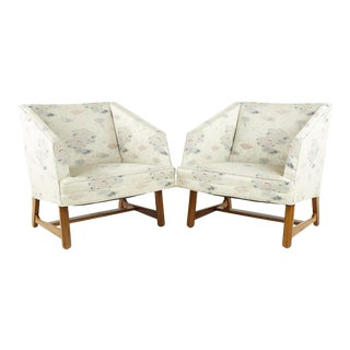 Adrian Pearsall Style Mid Century Walnut Lounge Chairs - Pair For Sale
