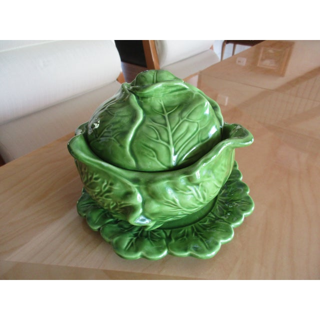 Mid 20th Century Vintage Holland Mold Cabbage Dish or Tureen For Sale - Image 5 of 10