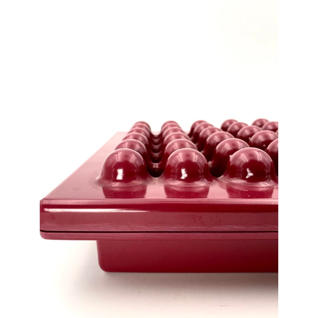 Red 1971 Wine Red Ashtray by Ettore Sottsass for Olivetti Synthesis, Sistema 45 Series For Sale - Image 8 of 13