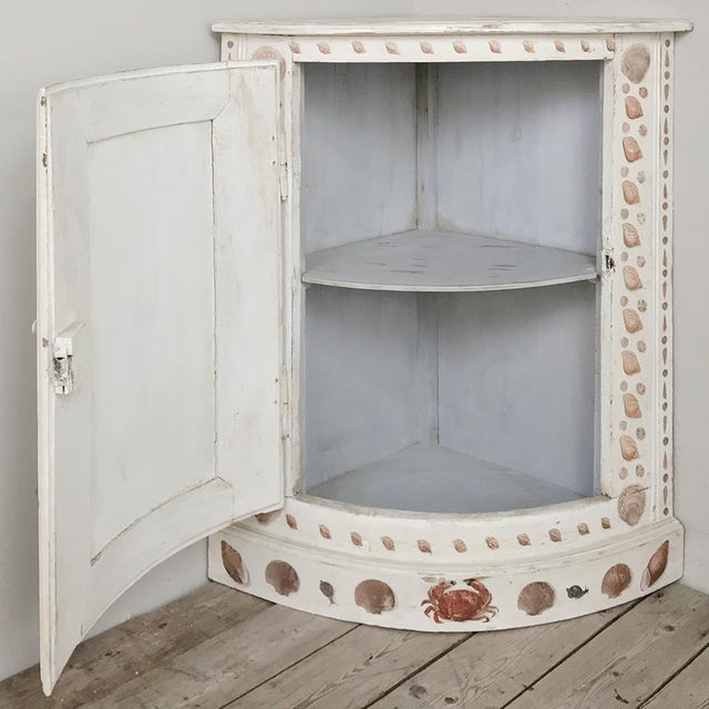 19th Century Swedish Painted Corner Cabinet For Sale - Image 4 of 13