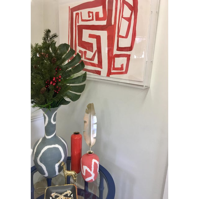 """Zoe Bios """"Cherry Maze"""" in Lucite Box Frame For Sale - Image 5 of 5"""