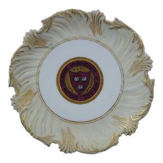 Late 19th Century T&v Limoges France Academic Harvard University Plate For Sale