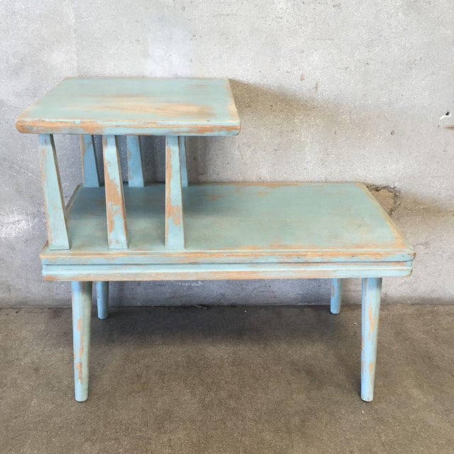 Upcycled Mid Century Side Table - Image 3 of 7