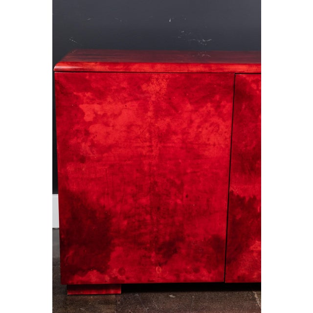 1970s Rare Aldo Tura Goatskin Cabinet/Sideboard For Sale - Image 5 of 8