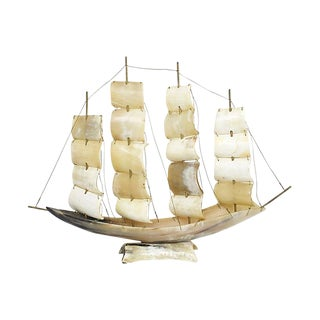 Large Italian Horn Ship Model For Sale