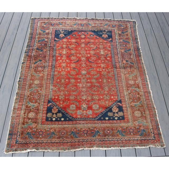 "Vintage Persian Rug - 4'11"" x 6'4"" - Image 2 of 10"