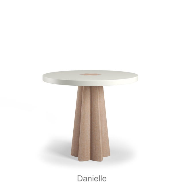 Danielle Side Table - Natural Cerused Oak - Simply White For Sale - Image 4 of 6