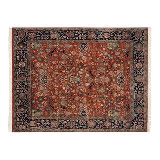 """Vintage Indian Bijar Design Carpet - 7' X 8'11"""" For Sale"""