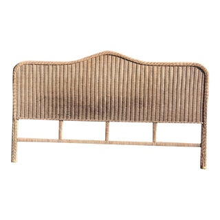 Vintage Rattan King Headboard For Sale