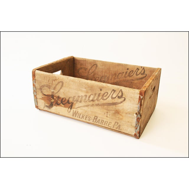 Vintage Rustic Stegmaier's Brewery Wood Crate For Sale - Image 4 of 11