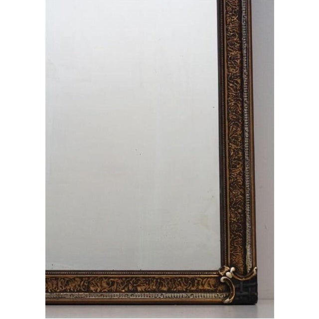 Art Deco Early 20th C. Etched Glass and Gesso Mirror For Sale - Image 3 of 7