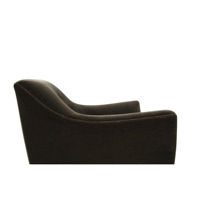 Henry Glass Lounge Chairs in Mohair - a Pair For Sale - Image 10 of 13