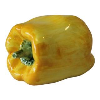 Italian Ceramic Yellow Bell Pepper For Sale