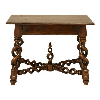 French 'Barley Twist' End Table For Sale