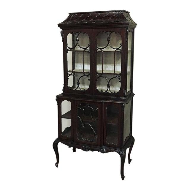 19th Century English Curio Cabinet For Sale