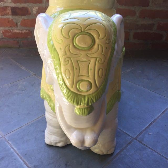 Mid-Century Italian Ceramic Elephant Garden Stool - Image 4 of 10