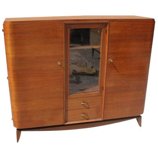 Classic French Art Deco Solid Mahogany Maxime Old Bookcase Circa 1940s. For Sale