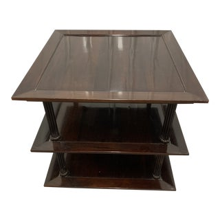Barbara Barry 3-Tiered Mahogany Side Table by Baker Furniture For Sale