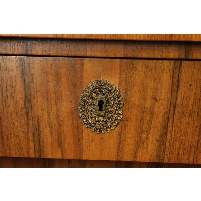 Baker French Empire Style Vintage Walnut Commode Chest of Drawers For Sale - Image 10 of 13