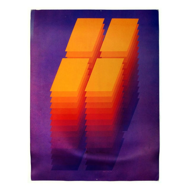 "1970's Robert Bidner ""Repetition XIV"" Poster - Image 1 of 2"
