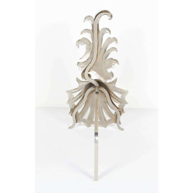 1980's Vintage Hollywood Regency Fireplace Andirons - a Pair For Sale In Miami - Image 6 of 8