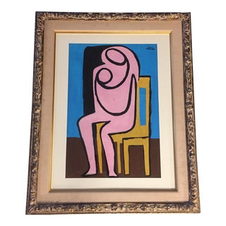 Original Bernard Segal Painting of Mother & Child