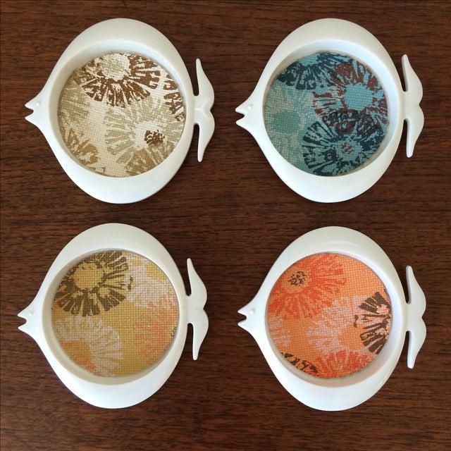 Mid-Century Plastic Fish Coasters - Set of 4 - Image 2 of 11