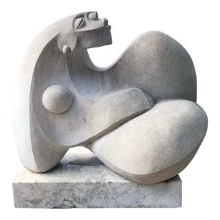 Reclining Nude Stone Sculpture by Ulises Jimenez For Sale