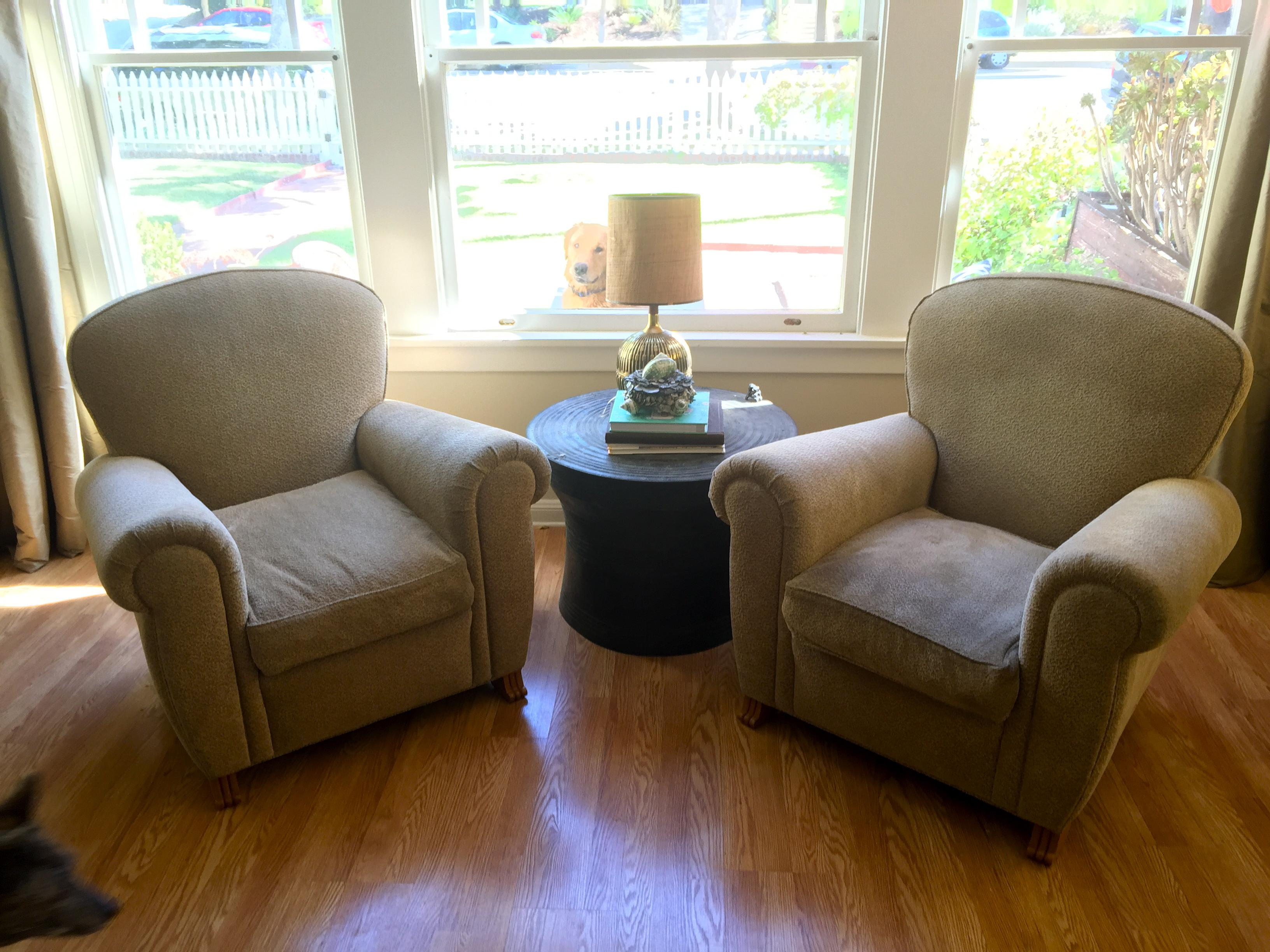 A handsome pair of custom made designer armchairs by A. RUDIN purchased at The Pacific  sc 1 st  Chairish & A. Rudin Club Chairs - A Pair | Chairish