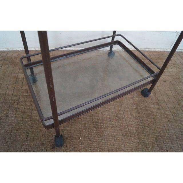 Brown Brown Jordan Tamiami Aluminum Patio Serving Cart For Sale - Image 8 of 10