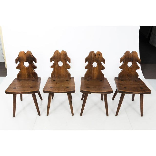Arts & Crafts Arts and Crafts Wood Side Chairs - Set of 4 For Sale - Image 3 of 10