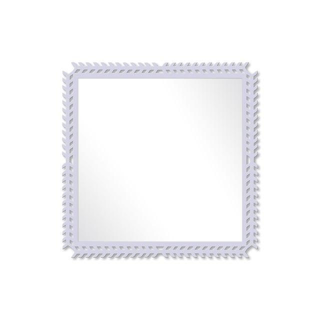 Fleur Home x Chairish Toulouse Trellis Mirror in Spring Iris, 24x24 For Sale - Image 4 of 4
