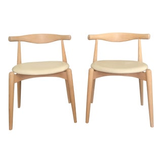Vintage Hans J. Wegner Elbow Chairs - A Pair