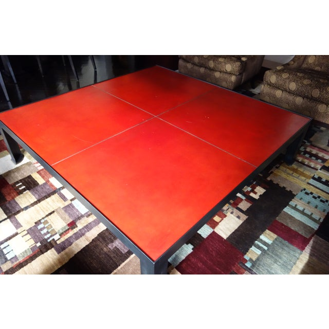 Leather & Metal Coffee Table - Image 6 of 6