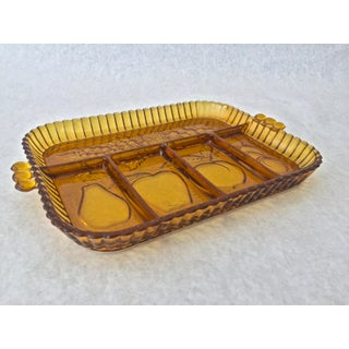 Vintage Amber Indiana Glass Fruit Platter Preview