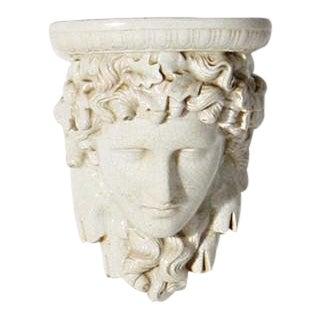 Pair of Ceramic Head Pedestals, C. 1940