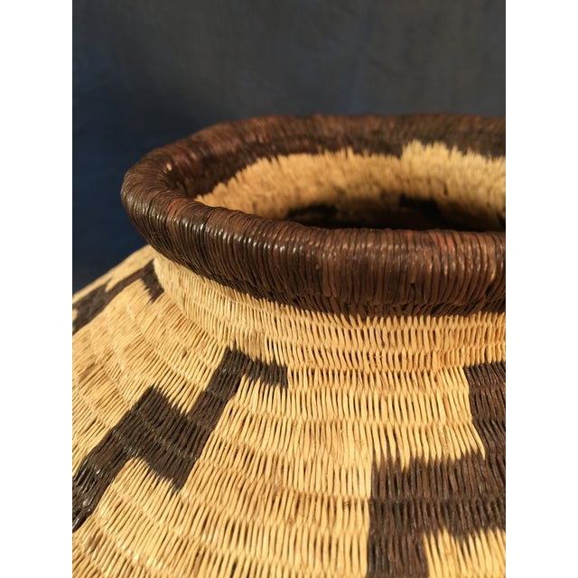 Organic Colombian Werregue Round Woven Basket - Image 7 of 7