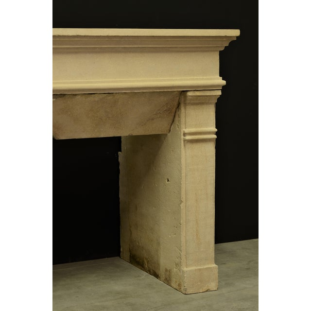 Yellow Antique Fireplace Mantel From France For Sale - Image 8 of 9
