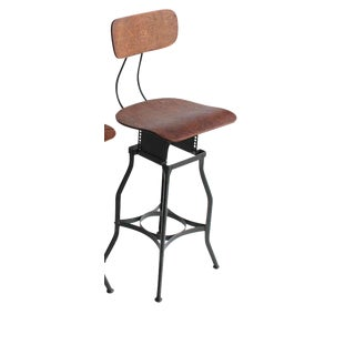 1940's Vintage American Industrial Toledo Stool For Sale